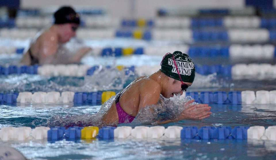 Great Neck South's Jessica Whang swims in a