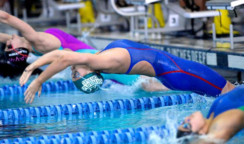 Long Beach's Kristen Romano swims in a preliminary