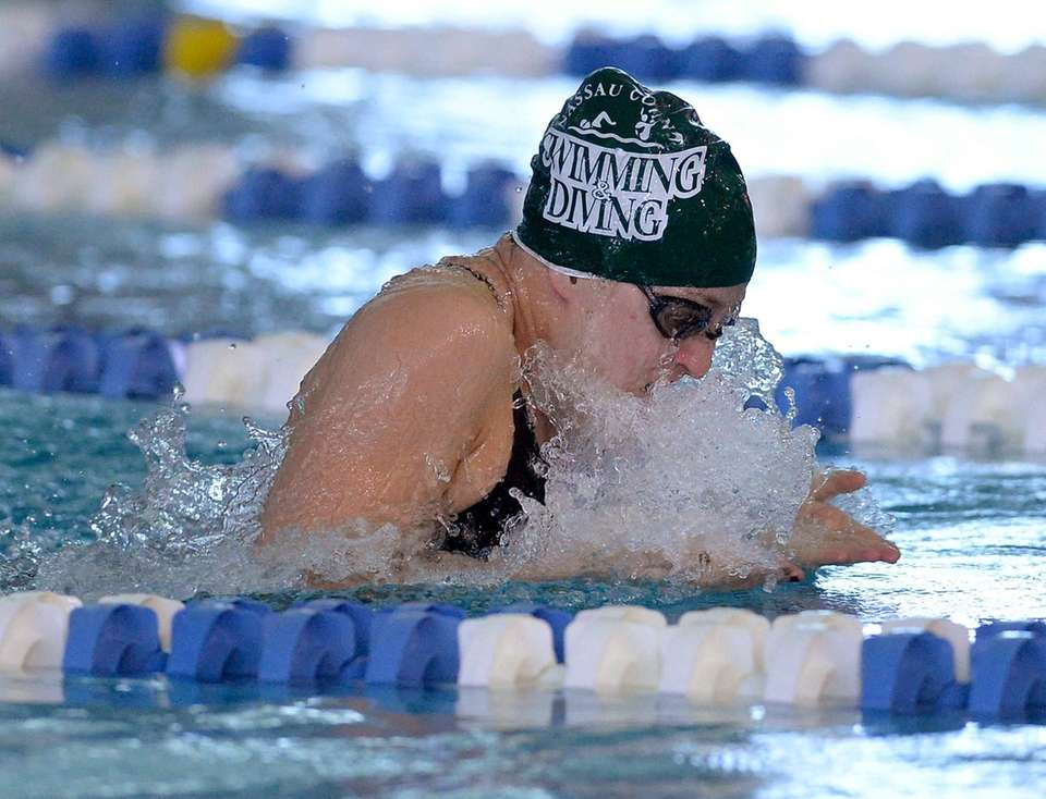 Long Beach's Margaret Aroesty swims in a preliminary