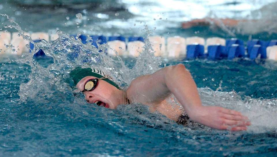 Garden City's Alana Brown swims in a preliminary