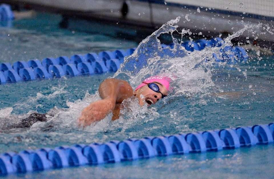 St. Anthony's Briana Gellineau swims in a preliminary