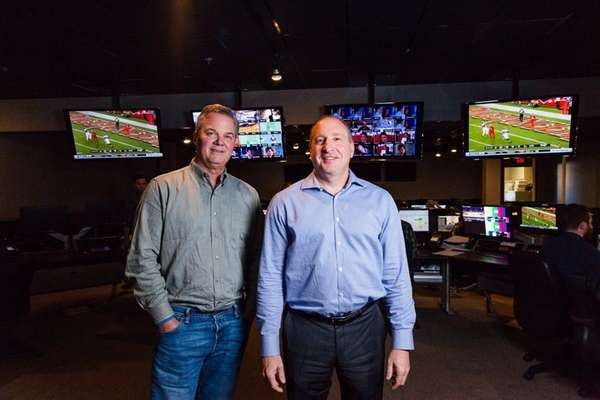 Chris Wagner, left, executive vice president, and Roy