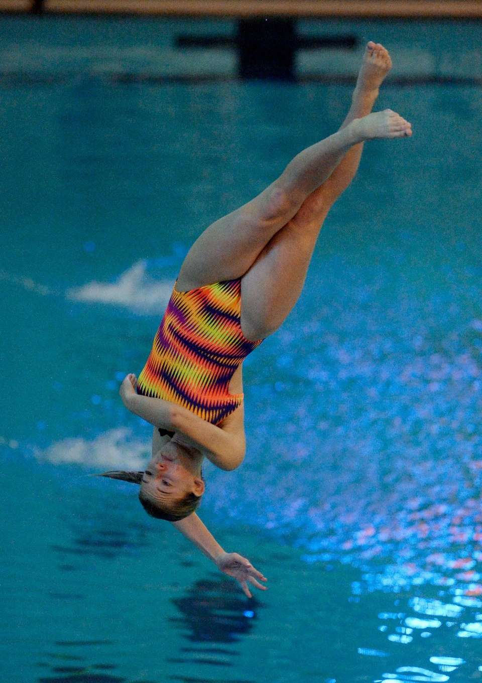 Deer Park/North Babylon's Daniella Cornelia performs a dive