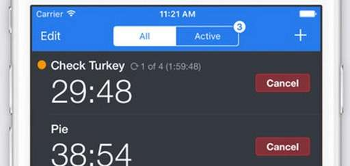 The Timer+ app for iOS devices lets you