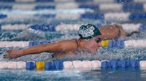 Long Beach's Kristen Romano swims in a preliminary