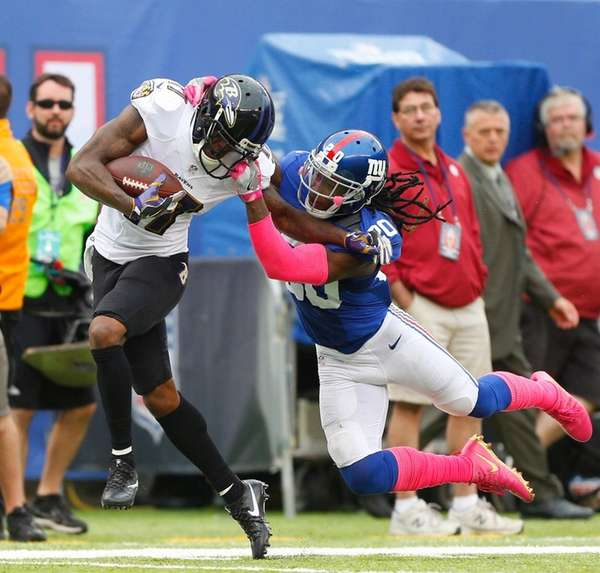 Janoris Jenkins of the Giants commits a face