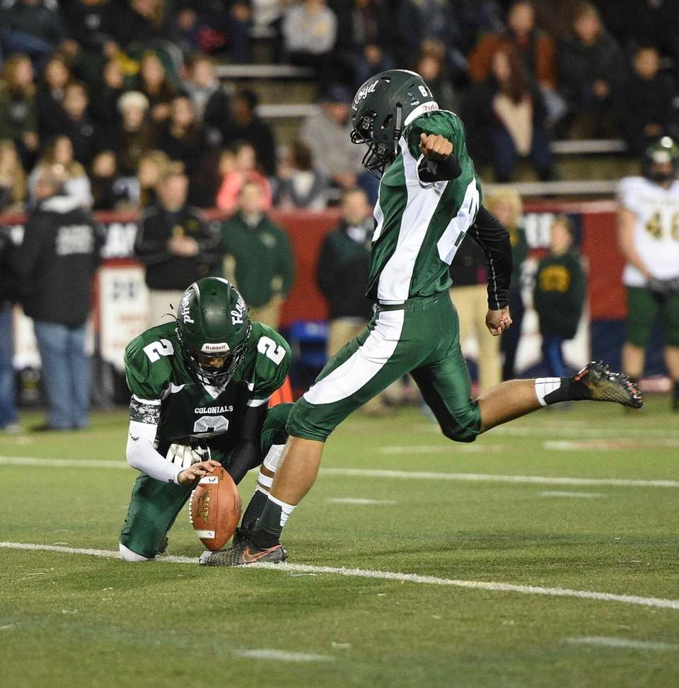 William Floyd's Sebastian Paniccia kicks an extra point