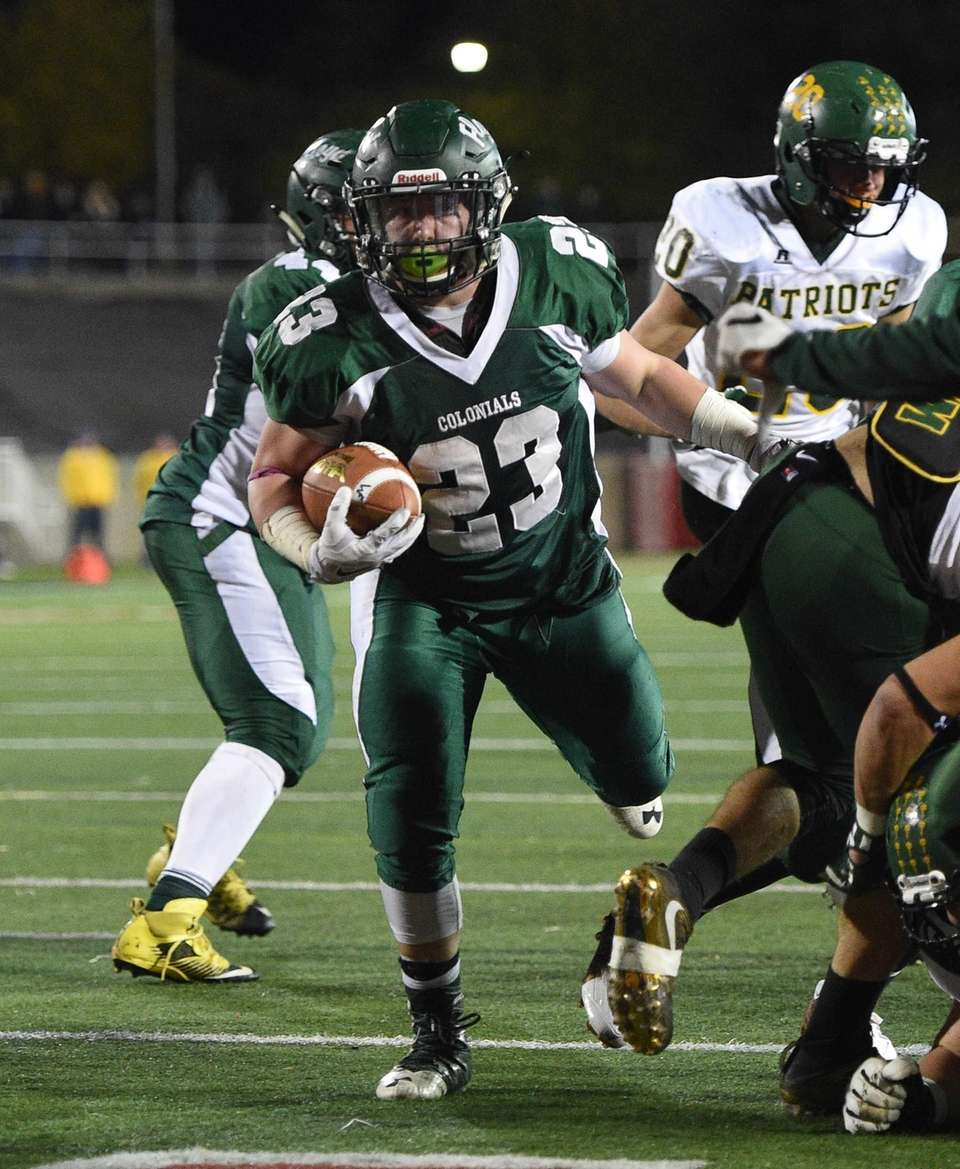 William Floyd running back Nick Silva rushes for