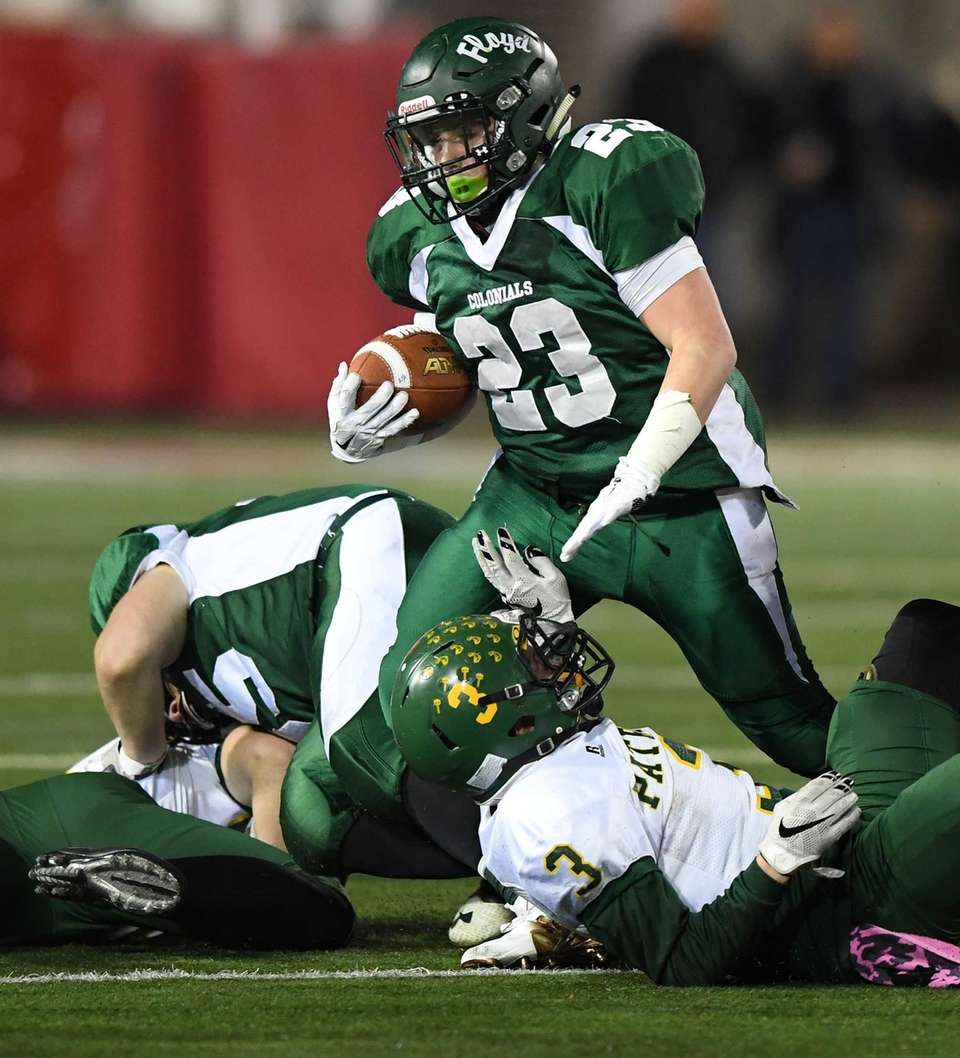 William Floyd's running back Nick Silva runs the