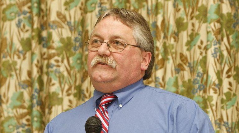 Greenport Mayor George Hubbard is seen in a