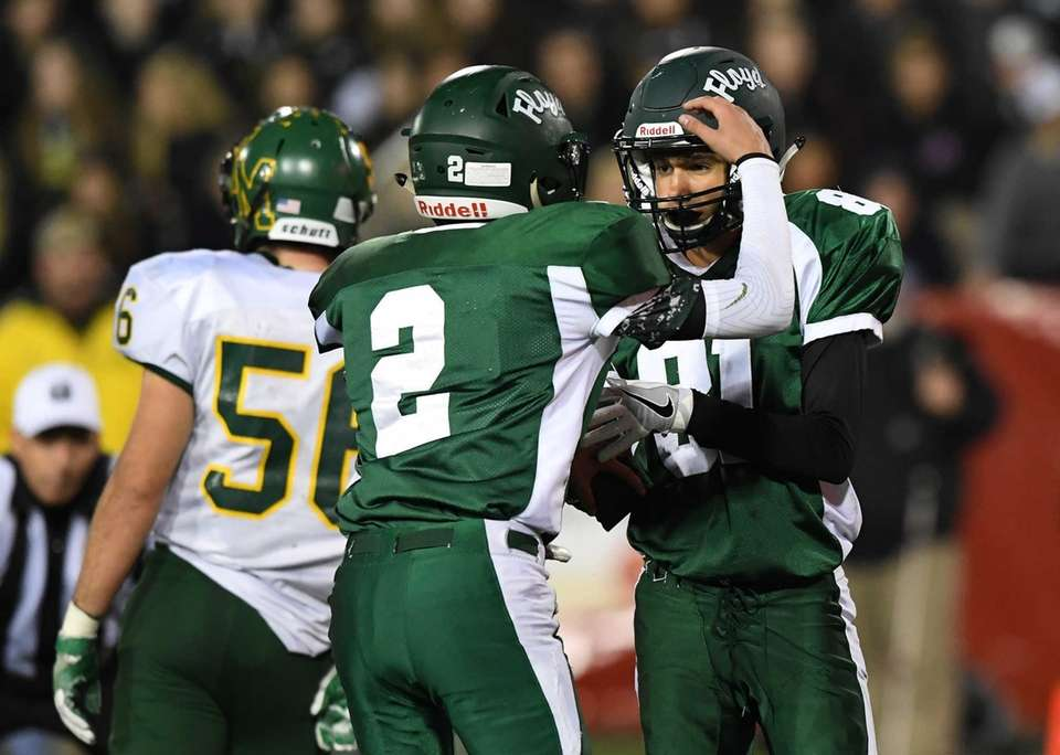 William Floyd's David DiSanto and Sebastian Paniccia celebrate