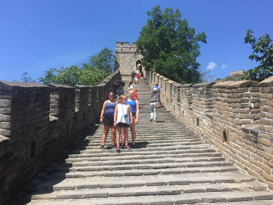 The Garrison Girls on the Great Wall of