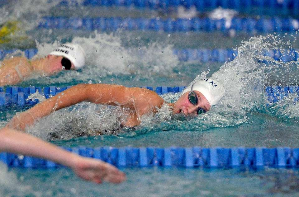Northport's Chloe Stepanek swims in the finals of