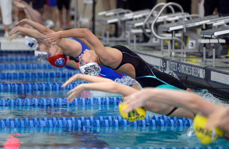 Long Beach's Kristen Romano swims in the finals