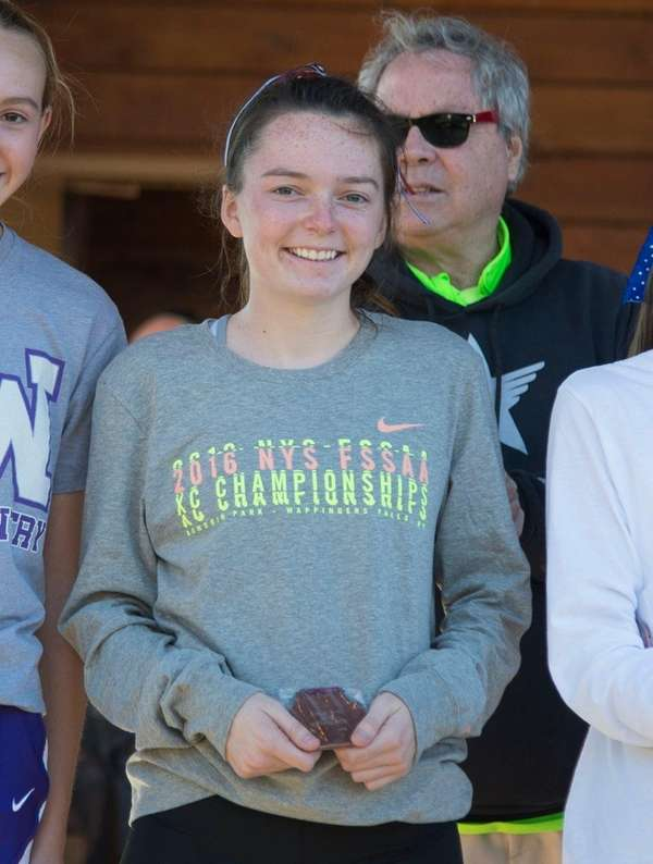 Bayshore's Bridget Kanaley finished in 19th place during