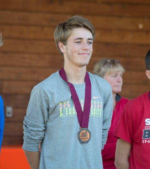 Saint John the Baptist's runner Patrick Kain finished