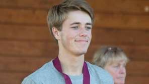 Saint John the Baptist's runner Patrick Kain finished