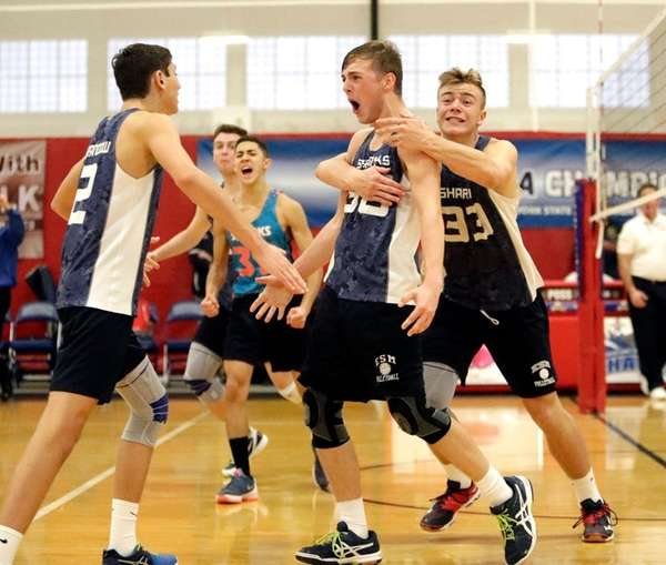 Eastport-South Manor's Byrne Ryan (30) reacts after his