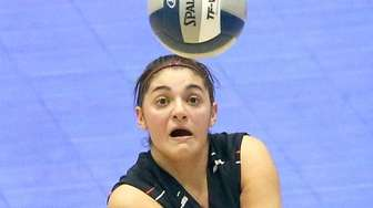 East Rockaway's Diana Locoteta gets the dig during