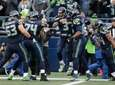 Seattle Seahawks quarterback Russell Wilson (3) is greeted