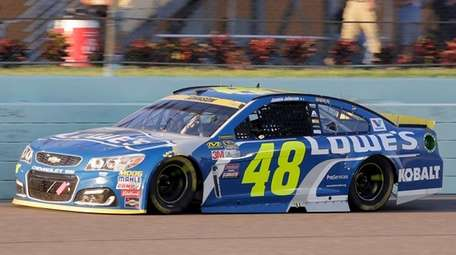 Jimmie Johnson drives during the NASCAR Sprint Cup
