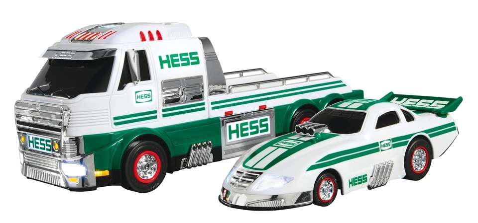 The Hess Toy Truck features LED lights, a