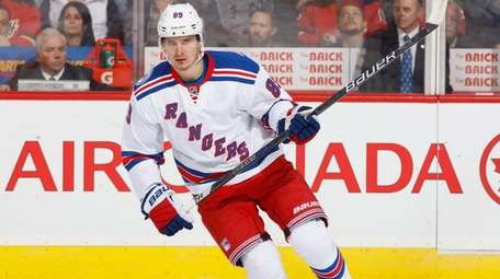 Back spasms have limited the Rangers' Pavel Buchnevich