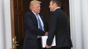 President-elect Donald Trump meets with Kris Kobach at