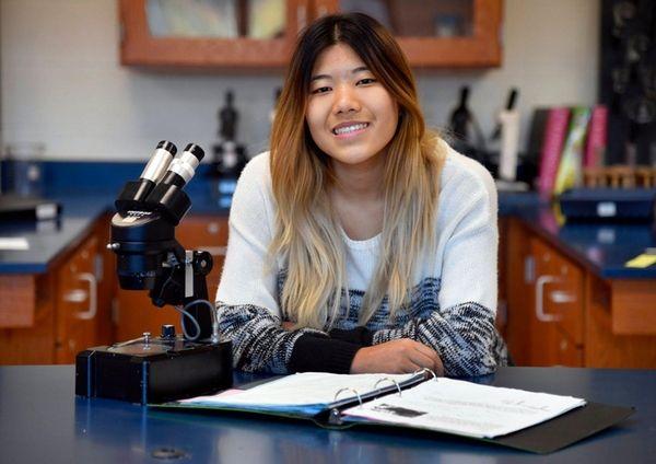 Alice Wu, 17, a senior at Half Hollow