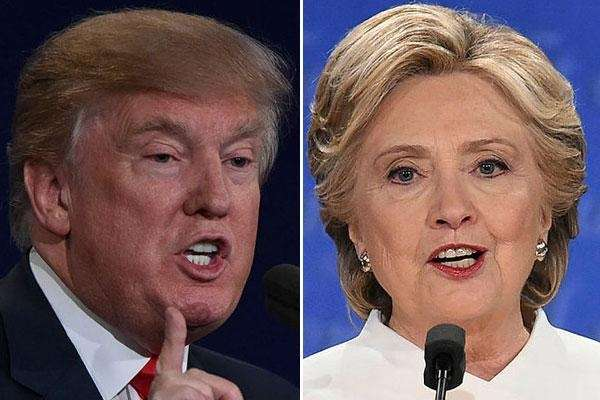 Undated composite of President-elect Donald Trump and Hillary