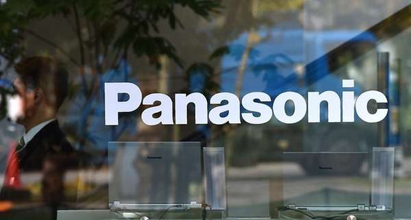 The logo of Japan's Panasonic Corp. is displayed
