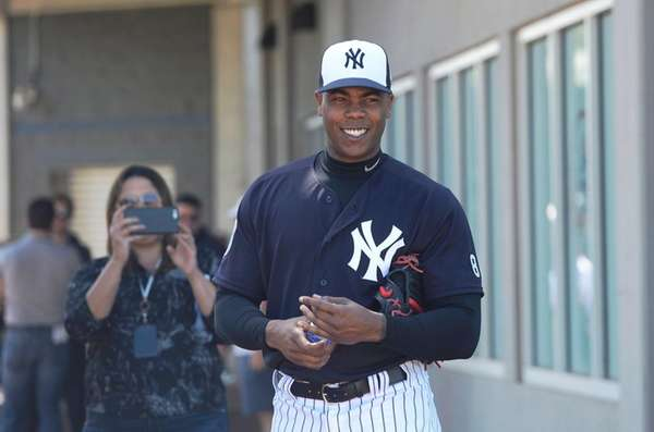 Free-agent closer Aroldis Chapman, who helped the Cubs