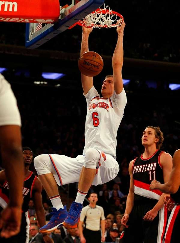 New York Knicks' Kristaps Porzingis, who had a