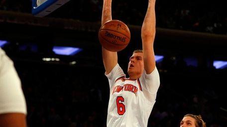 New York Knicks' Kristaps Porzingis, who had a