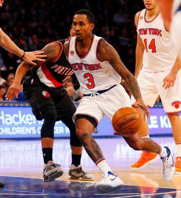 Brandon Jennings #3 of the New York Knicks
