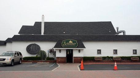 The exterior of The Schooner restaurant in Freeport.
