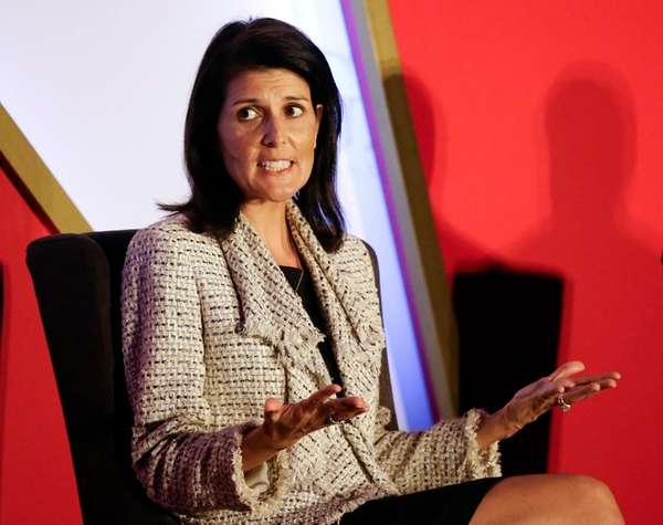 South Carolina Gov. Nikki Haley, speaking at the