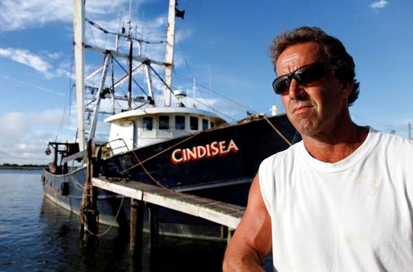 Commercial fisherman Thomas Kokell at the dock in