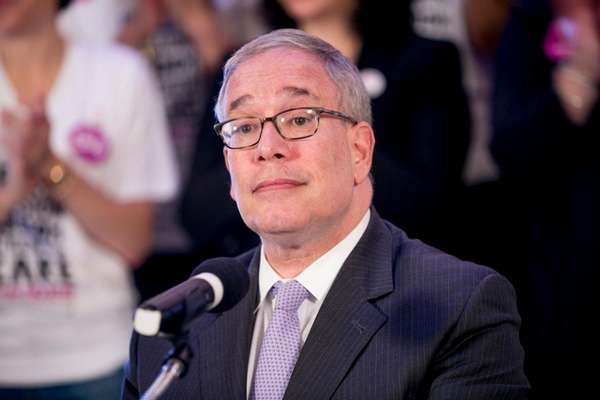 New York City Comptroller Scott Stringer speaks at