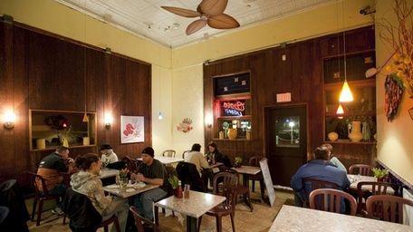 Interior of Buoy One restaurant in Riverhead.