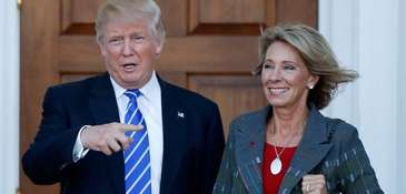 Betsy DeVos is President-elect Donald Trump's choice for