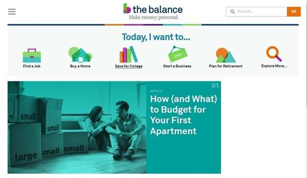 The Balance is a website that offers information