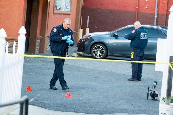 Nassau Police investigate the scene where a body