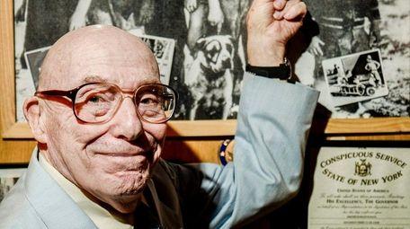 Jerry Schatz is seen in his home in
