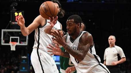 Brooklyn Nets guard Sean Kilpatrick loses the ball