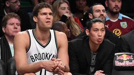 Brooklyn Nets center Brook Lopez and guard Jeremy
