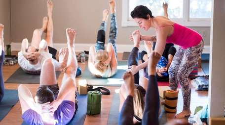 Leslie Pearlman, owner of Good Ground Yoga in