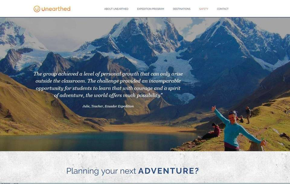 NAME unearthedtravel.com WHAT IT DOES Unearthed Travel leads