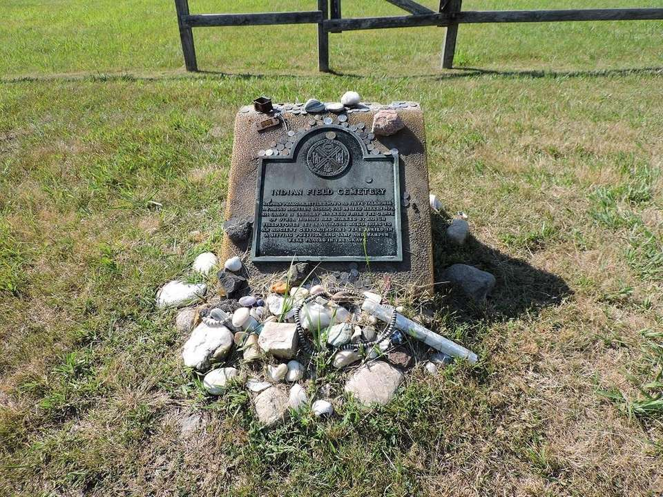 A Native American burial place that is recognized