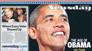 Newsday's wraparound cover on Nov. 6, 2008.